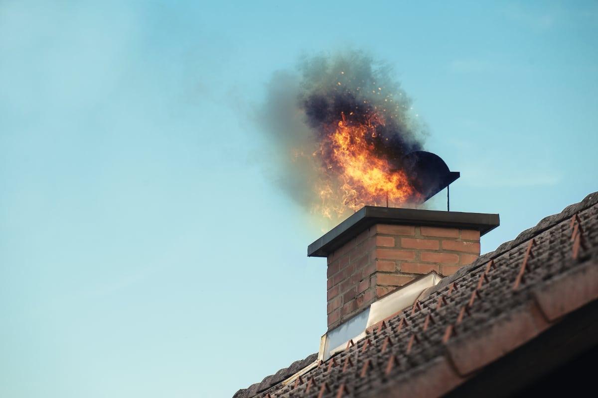 schoorsteenbrand voorkomen